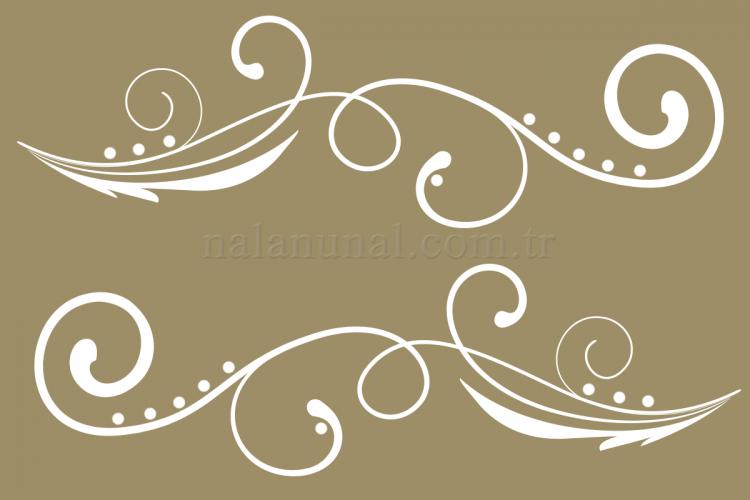 Ahşap boyama desenleri çiçekli şablon