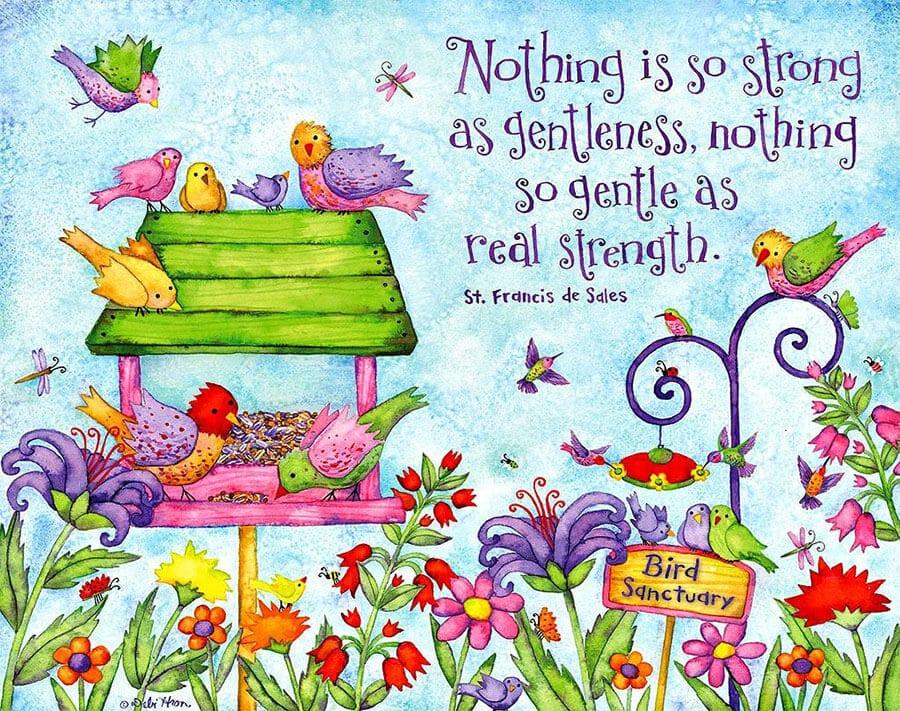 Kuşlu rengarenk dekupaj resimleri