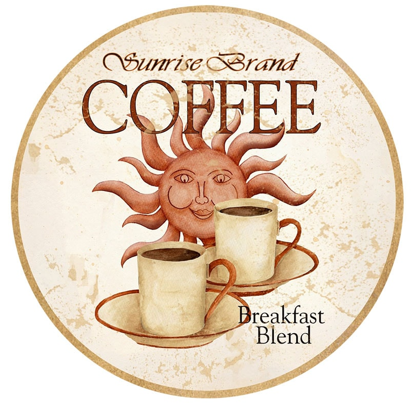 fincan kahve temalı dekupaj deseni