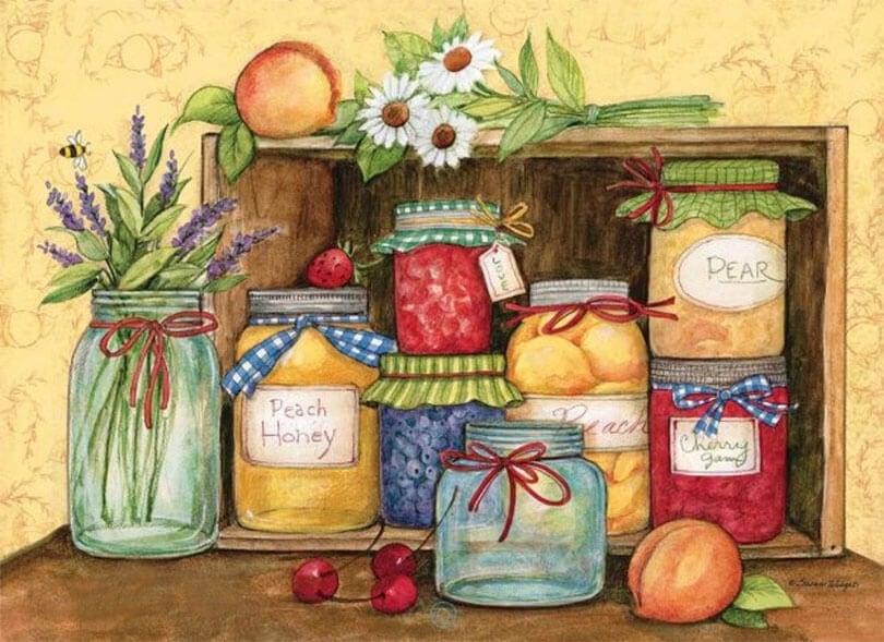 mutfak temalı dekupaj desenleri