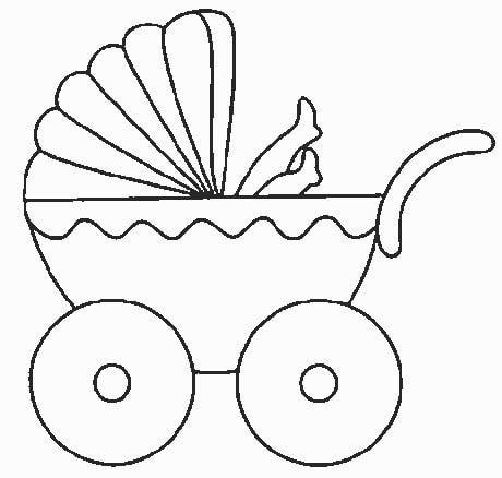 Aplike ve nakış için bebekli şablon