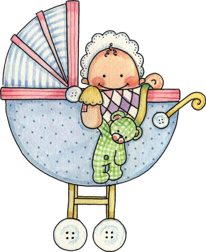 bebek arabalı dekupaj resmi