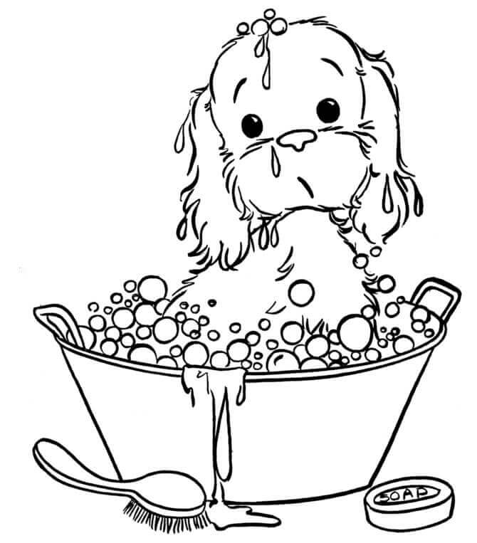 aplike ve nakış için köpek şablonu