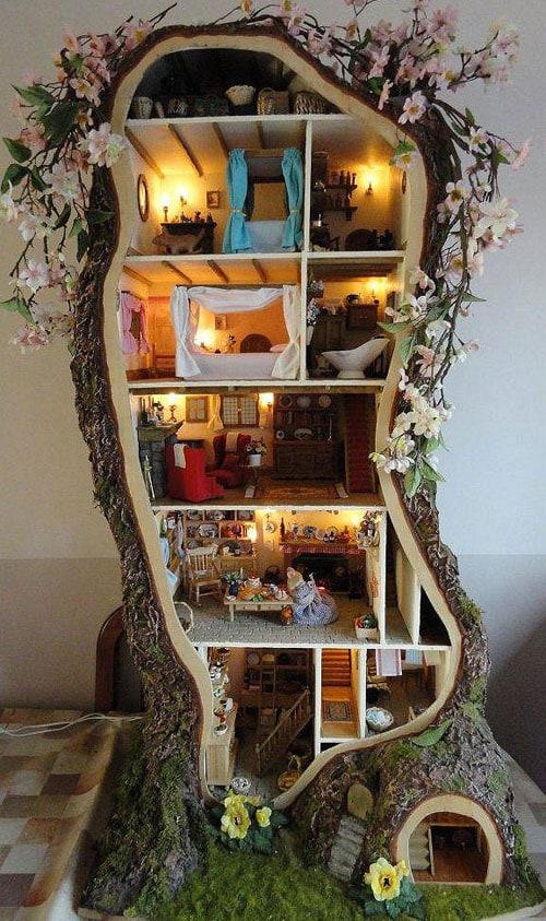 ahşap rölyef modeli ağaç kovuğunda rölyef minyatür çalışması