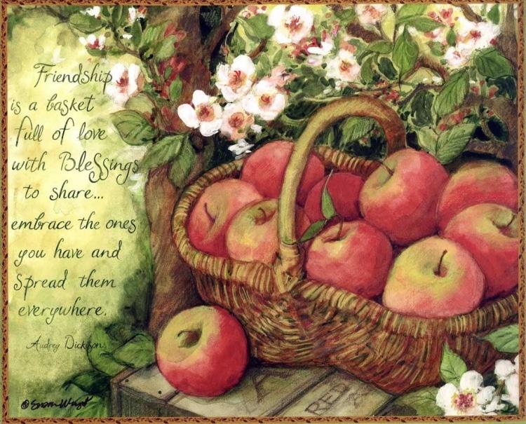 Elmalı dekupaj resmi