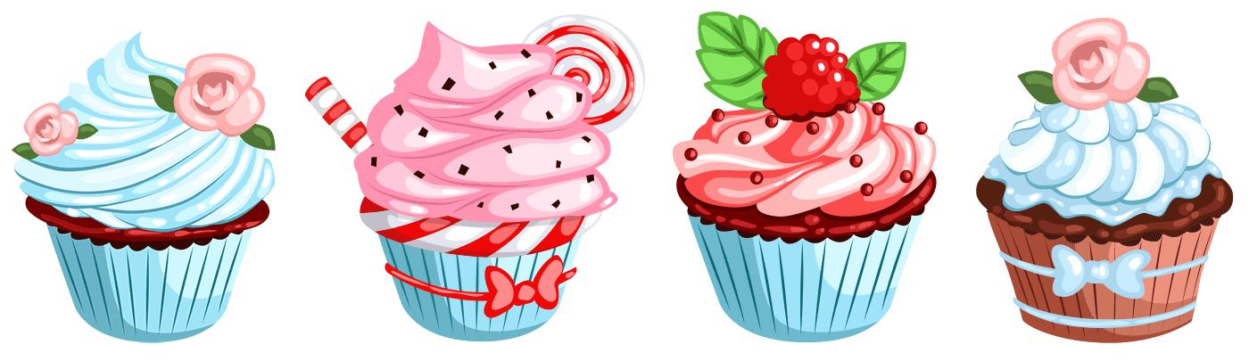 Dekupaj Icin Cupcake Resimleri Mutfak Temali Resimler