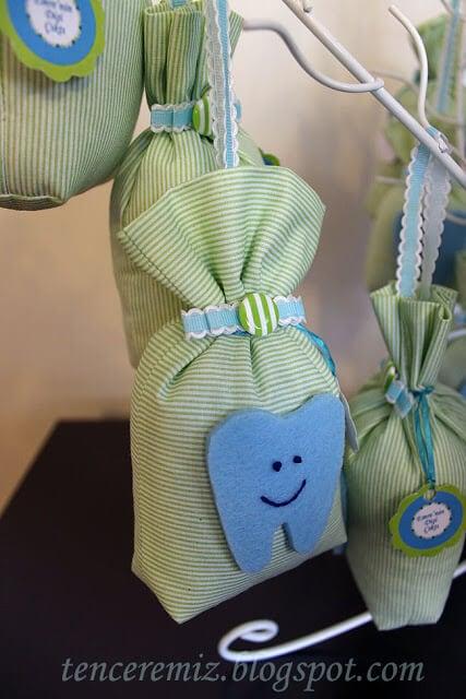 diş hediği için hediyelik lavanta keseleri