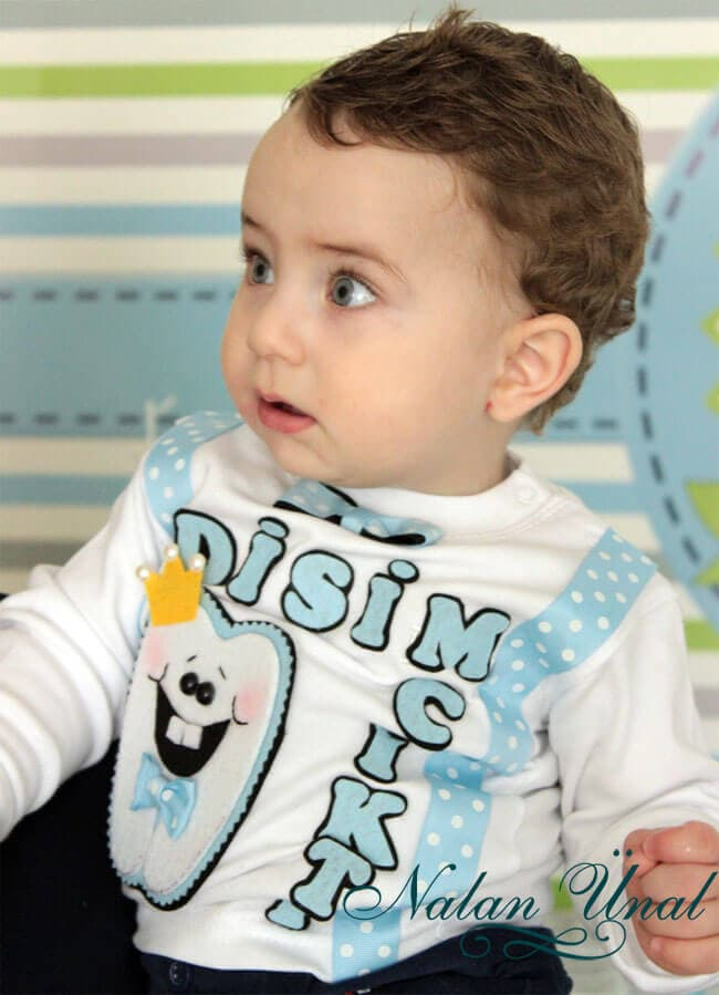 ilk diş partisi erkek bebek