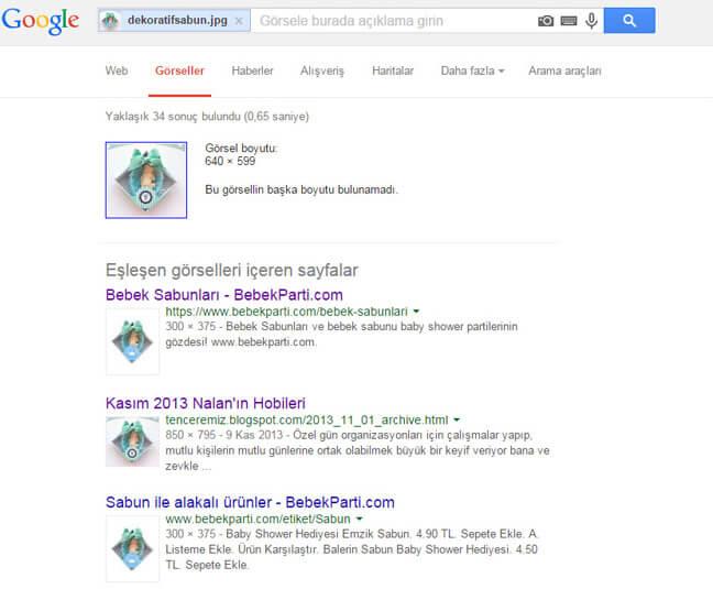 google tersinden görsel arama