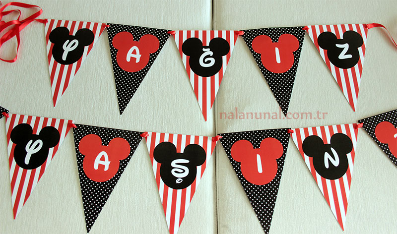 Mickey mouse konsepti banner