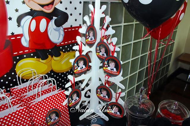 Mickey Minnie temali parti siyah kirmizi