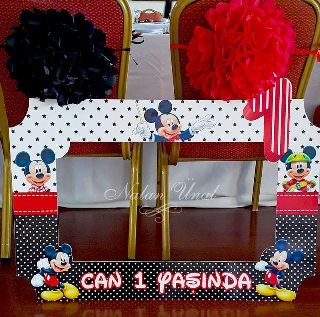 Mickey Mouse konsepti doğum günü hatıra çerçevesi