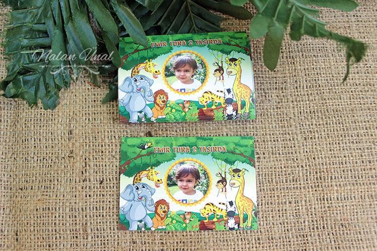 2 yaş doğum günü hediyeliği safari temalı magnet
