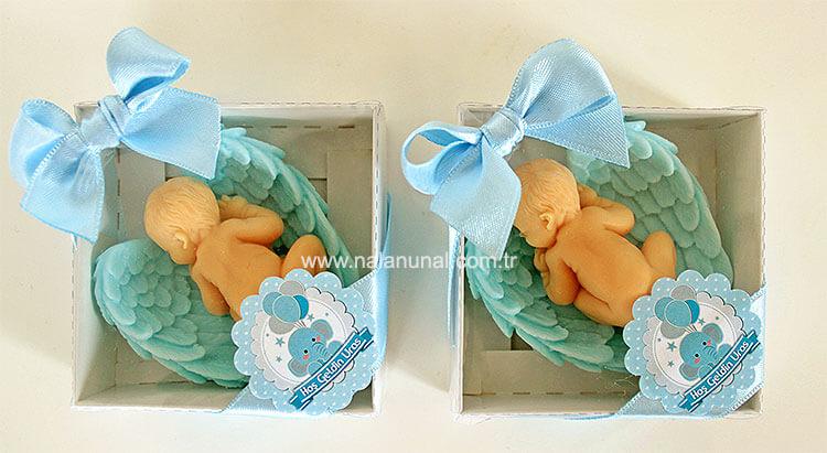 Erkek bebek doğum hediyeliği sabun