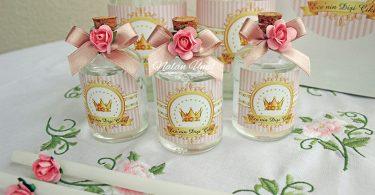Pembe gold doğum günü hediyelik kolonya şişeleri