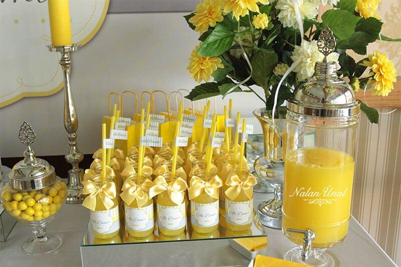 Doğum günü limonata şişeleri