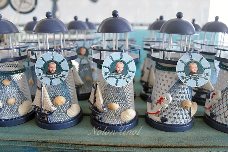 Denizci konsepti parti hediyelikleri fener