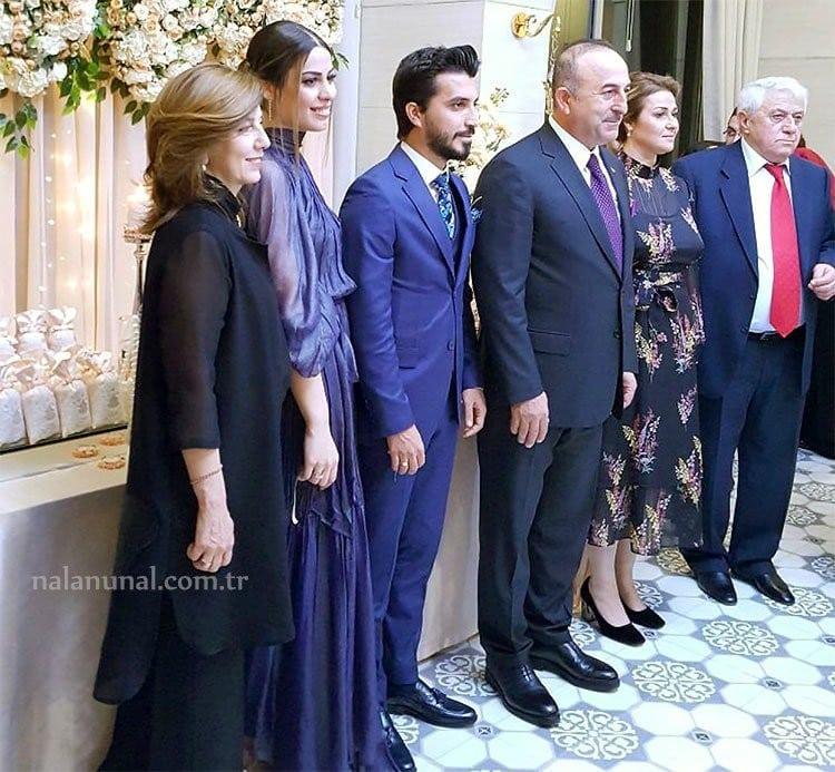 Dış işleri bakanı Mevlüt Çavuşoğlu'nun yeğeni nişan töreni