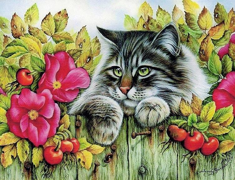 Kedi ve köpek temalı dekupaj desenleri