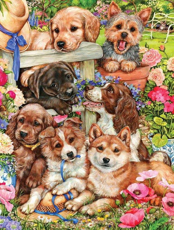 Yavru köpek temalı dekupaj desenleri