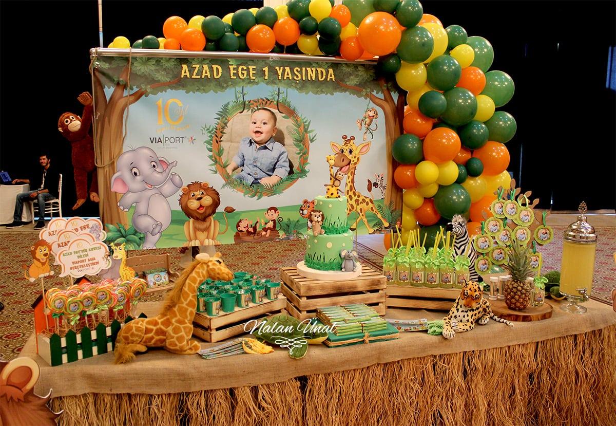 Safari Doğum Günü Konsepti, Doğum Günü Listesi, Doğum Günü Hazırlıkları, Doğum Günü Organizasyonu | Neşeli Süs Evim
